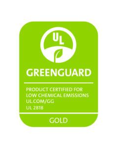 GREENGUARD UL2818 gold RGB Green
