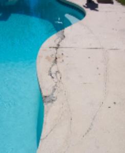 Damaged Pool Deck